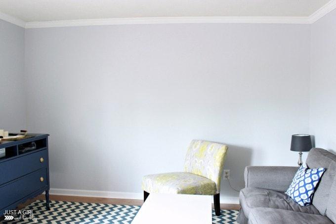 Painting the Living Room at JustAGirlAndHerBlog.com