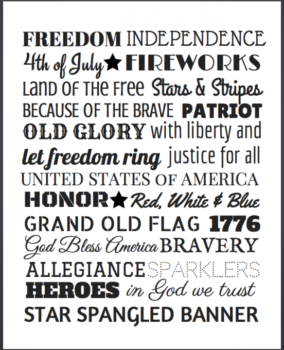 4th Of July Subway Art With Free Printable Abby Lawson