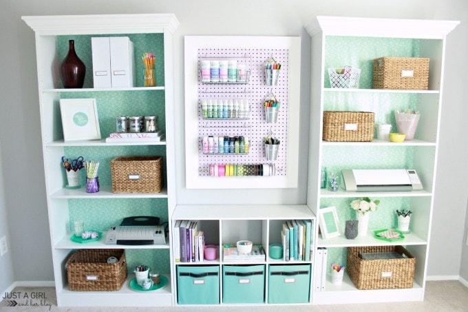 Home Office Makeover at JustAGirlAndHerBlog.com