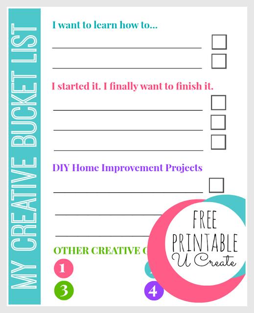 Creative Bucket List by U Create