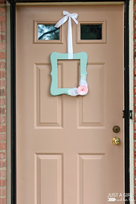 Spring to Summer Door Decor at JustAGirlAndHerBlog.com