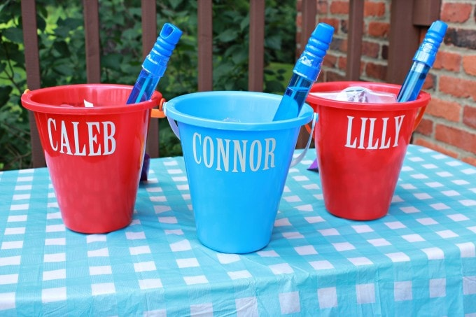 Personalized Sand Bucket Party Favors Just A Girl And
