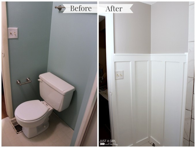Board And Batten Bathroom. How To Install Board And Batten Justagirlandherblog Com