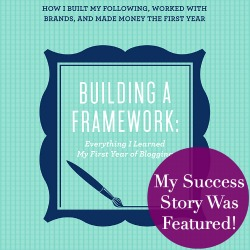 Building a Framework at Just a Girl and Her Blog