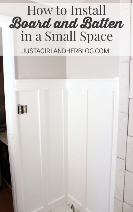How to Install Board and Batten | JustAGirlAndHerBlog.com