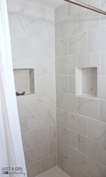 Our DIY Master Bathroom   JustAGirlAndHerBlog.com