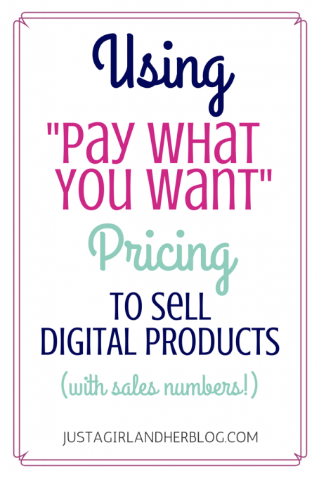 Pay What You Want Pricing | JustAGirlAndHerBlog.com