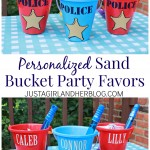 Personalized Sand Bucket Party Favors
