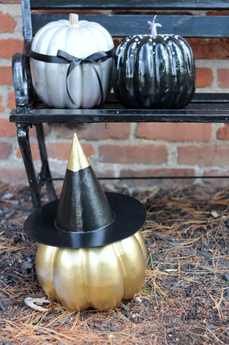 Three Pretty Pumpkins | JustAGirlAndHerBlog.com