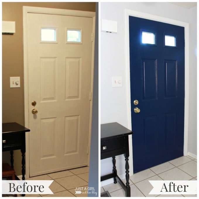 An Inviting Entry {Before & After} | JustAGirlAndHerBlog.com