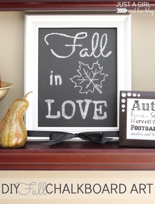 DIY Fall Chalkboard Art | JustAGirlAndHerBlog.com