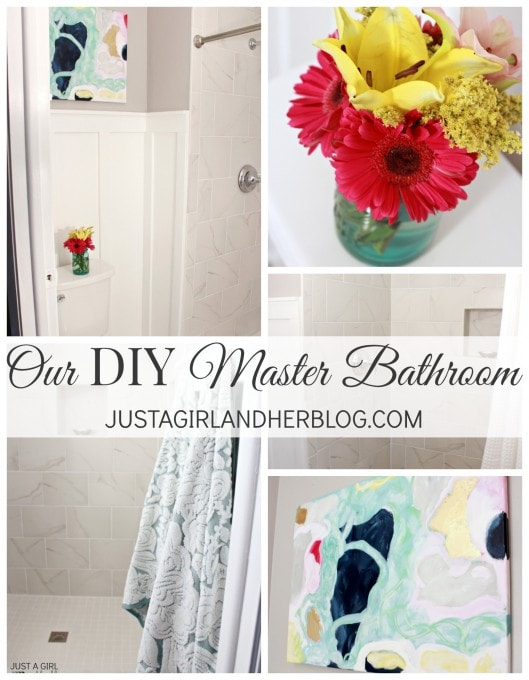DIY Master Bathroom Makeover | JustAGirlAndHerBlog.com