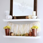 Neutral Fall Shelf Decor