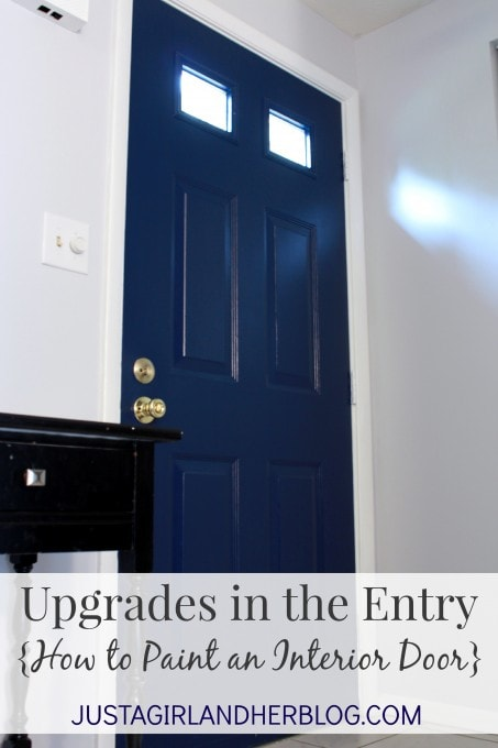 Upgrades in the entry how to paint an interior door just a girl how to paint an interior door justagirlandherblog planetlyrics Choice Image