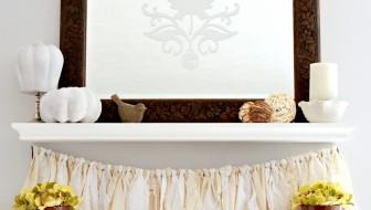 Neutral Fall Shelf Decor | JustAGirlAndHerBlog.com