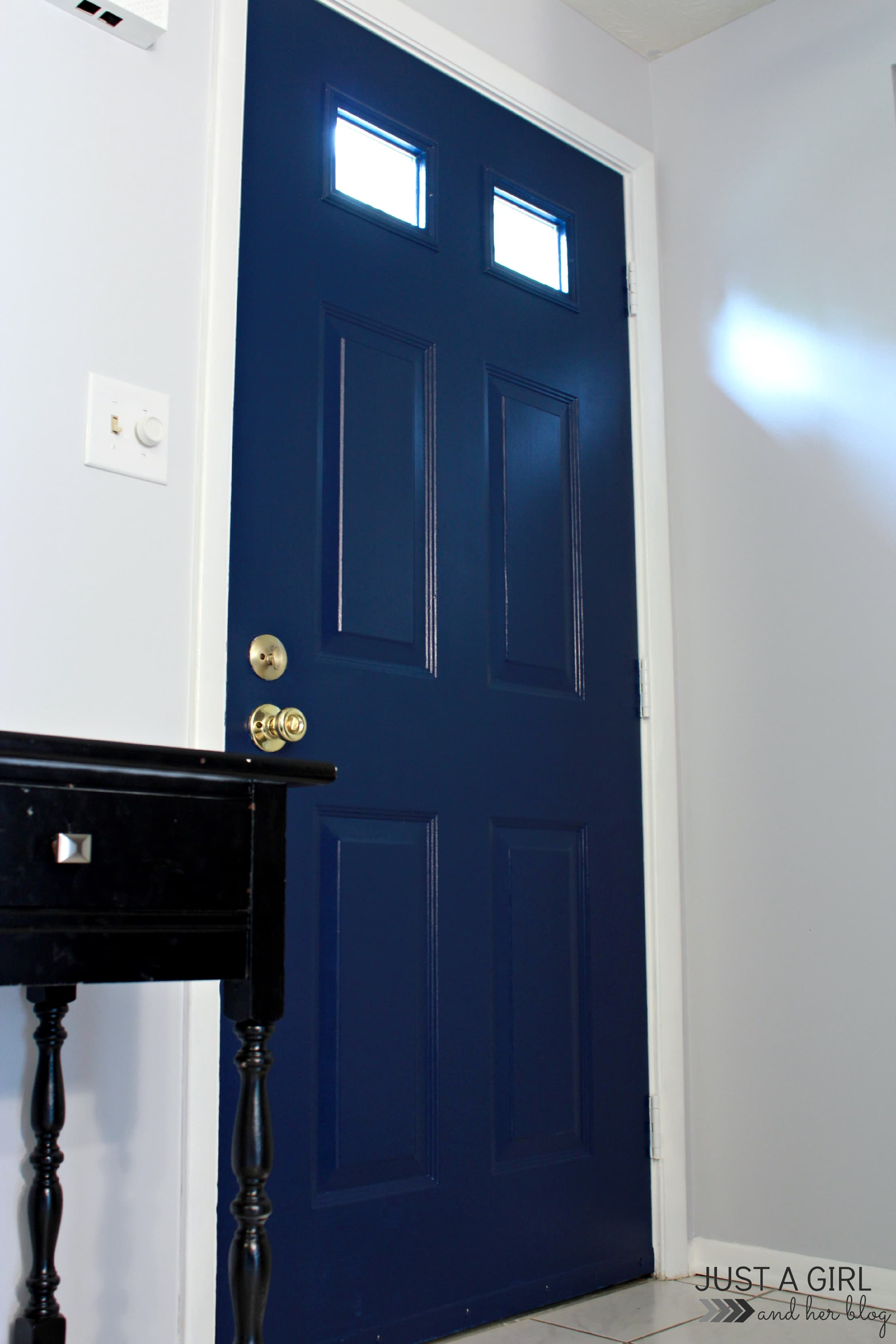 Upgrades In The Entry: How To Paint An Interior Door   Just A Girl And Her  Blog