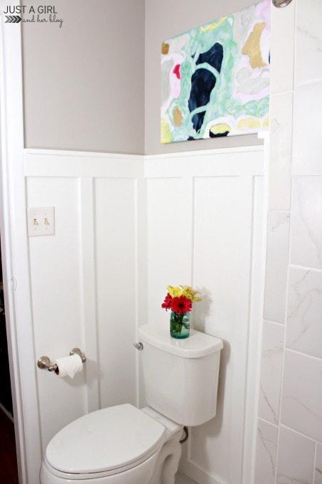 DIY Master Bathroom Makeover   JustAGirlAndHerBlog.com