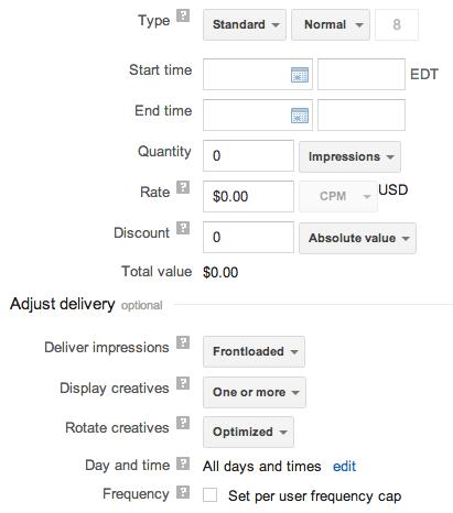 google dfp screenshot