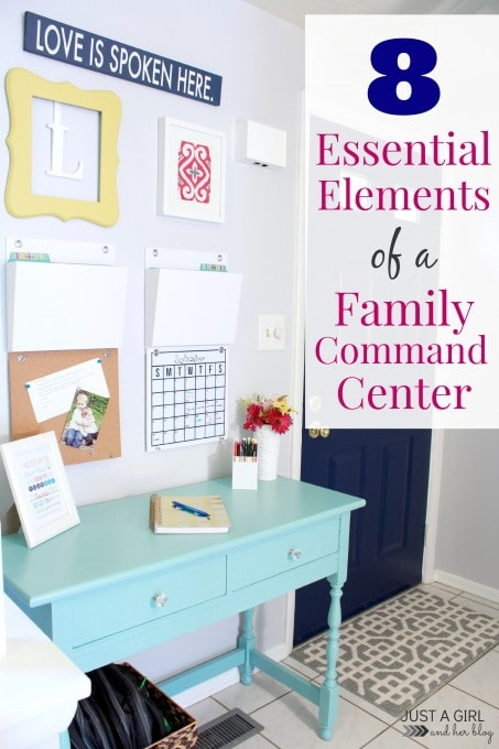 Our Family Command Center | JustAGirlAndHerBlog.com