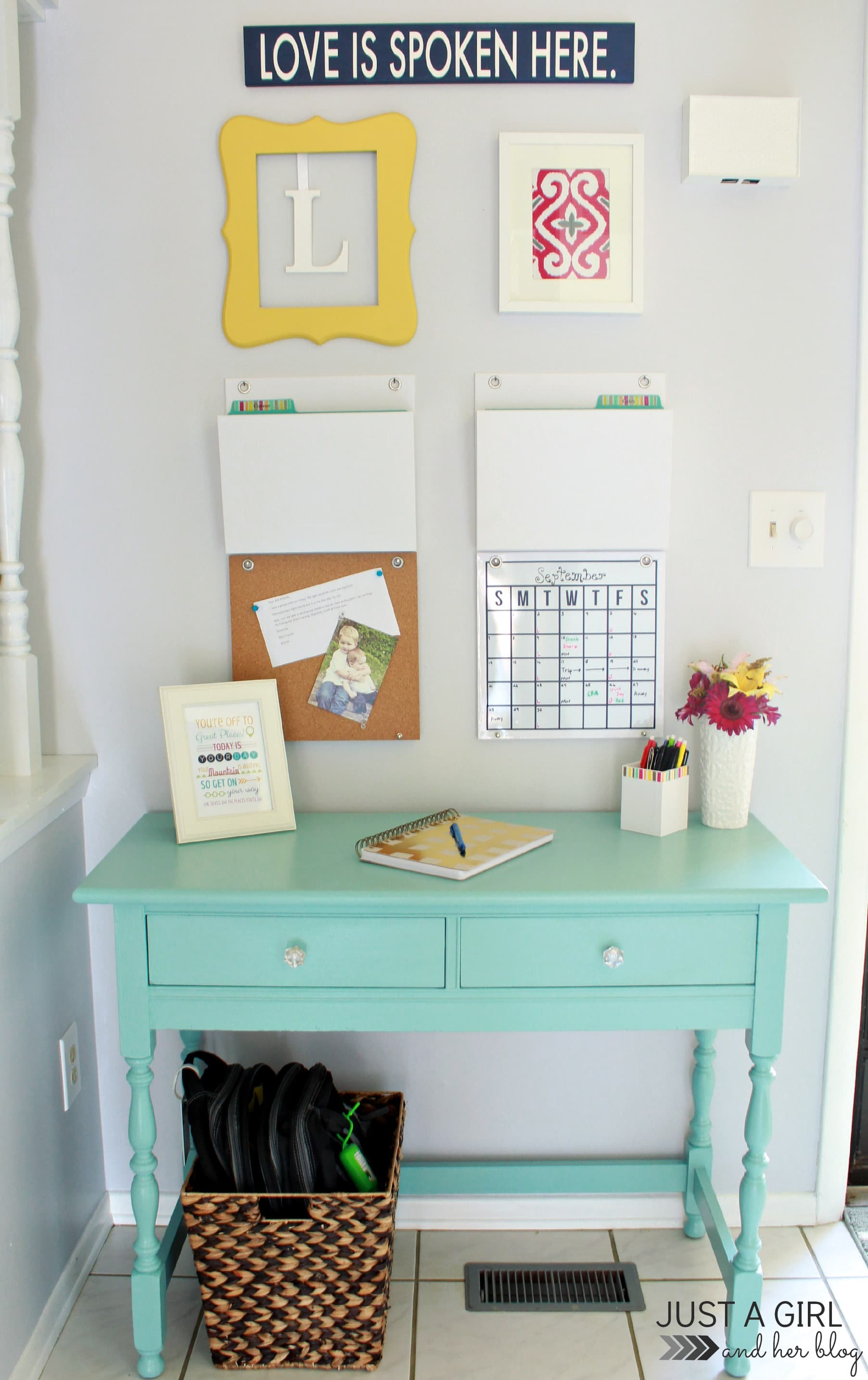 8 Essential Elements of a Family Command Center - Just a Girl and ...