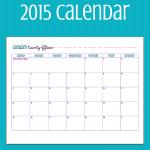 FREE Printable 2015 Calendar!