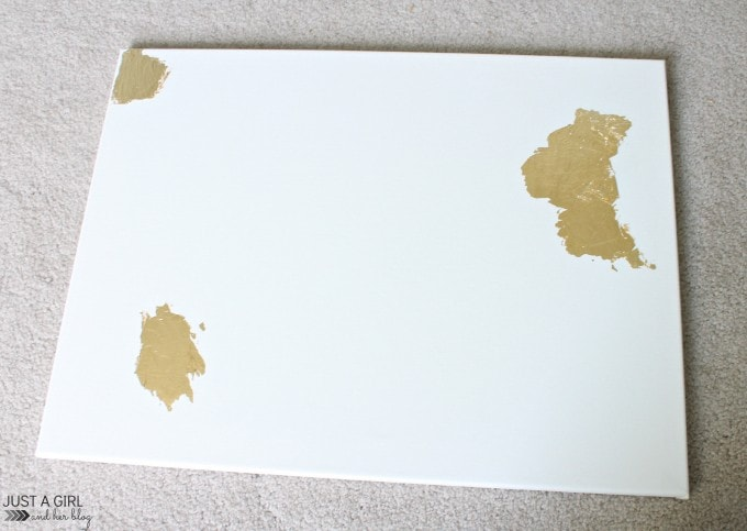 how to use gold leaf sheets on canvas