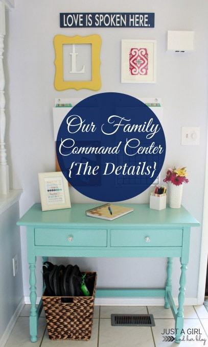 Command Center Sources | JustAGirlAndHerBlog.com
