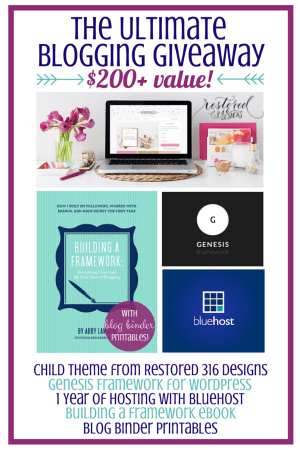 The Ultimate Blogging Giveaway Small