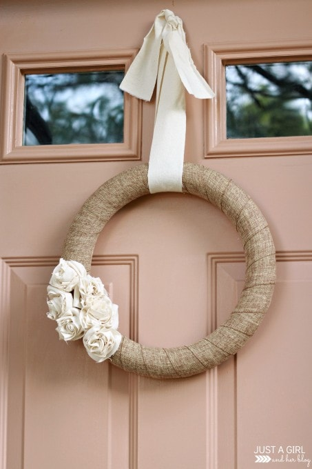 A Neutral Fall Wreath | JustAGirlAndHerBlog.com