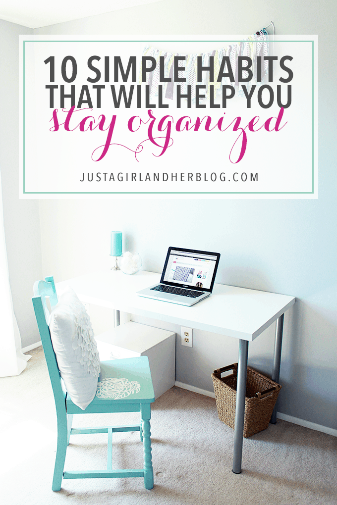 These habits are so simple and easy to implement, and they make a BIG impact on your producutivty! Click through to the post to see all 10!