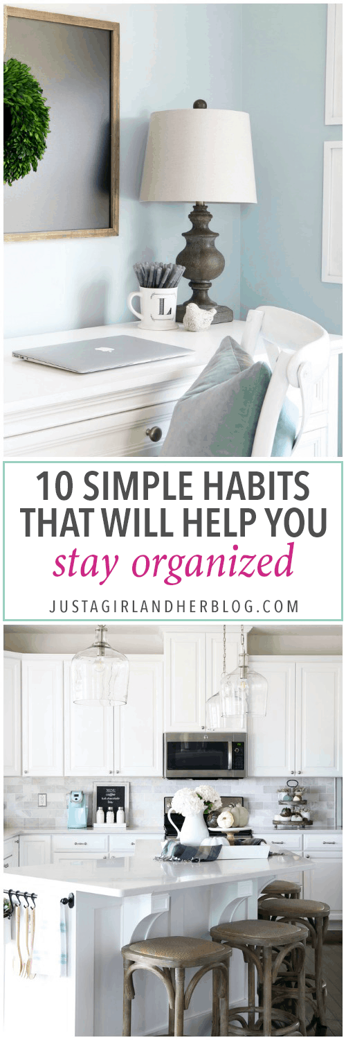 These simple habits will help you stay organized and be more productive, and they're so easy to implement into your daily routine! | productivity, habits, routines, organization
