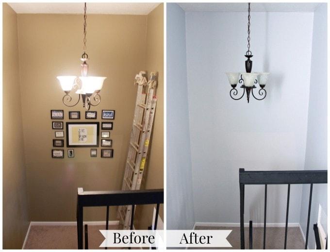 Stairwell Transformation | JustAGirlAndHerBlog.com