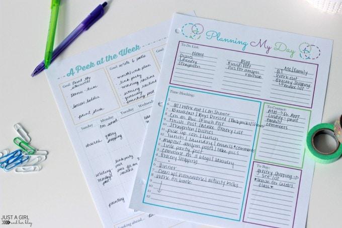 Planning for Productivity | JustAGirlAndHerBlog.com