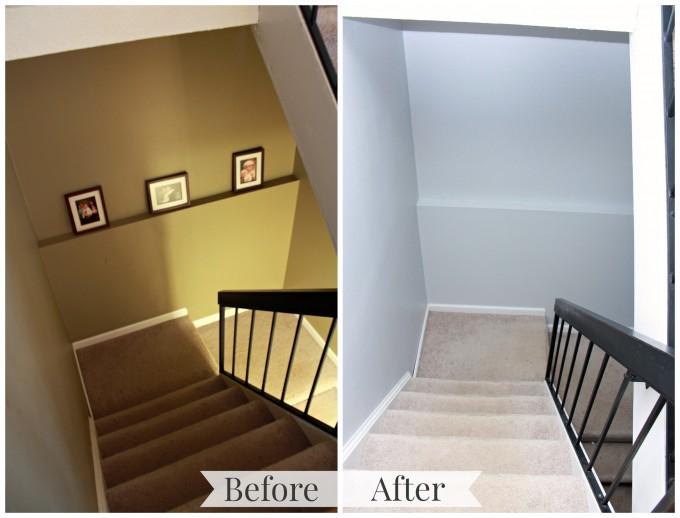Stairwell Transformation   JustAGirlAndHerBlog.com