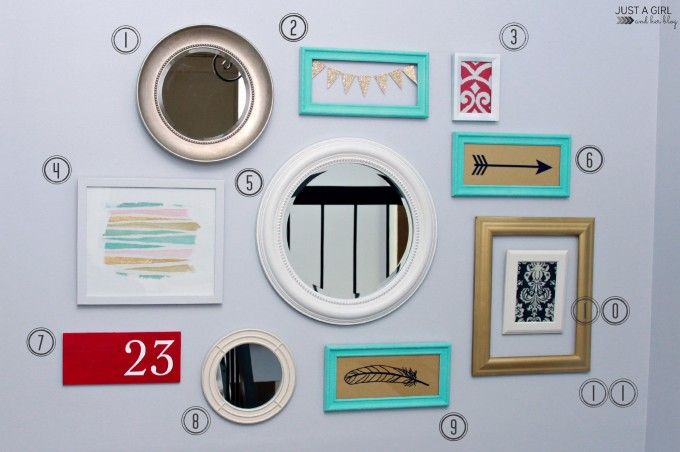 How to Create a Gallery Wall in 5 Easy Steps | JustAGirlAndHerBlog.com