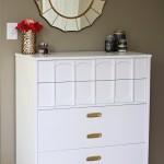 A Gold and White Dresser | JustAGirlAndHerBlog.com