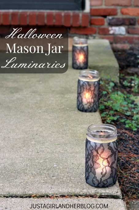 image about Justagirlandherblog titled Halloween Mason Jar Luminaries Abby Lawson