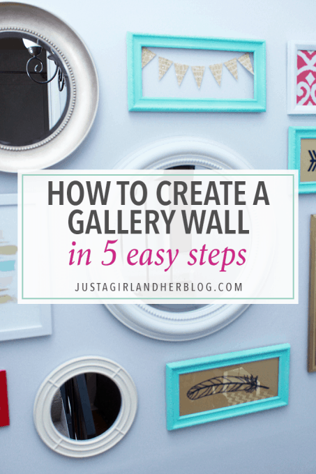 Creating a gallery wall was always so intimidating to me, but this post breaks it down and makes it seem easy! Click through to the post for full instructions!