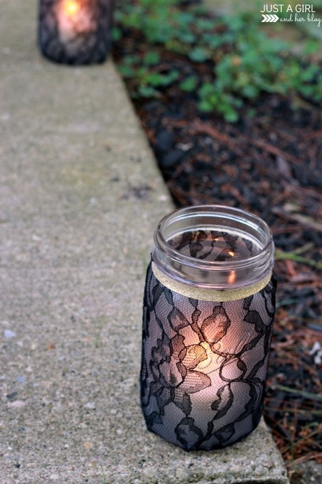 Halloween Mason Jar Luminaries | JustAGirlAndHerBlog.com