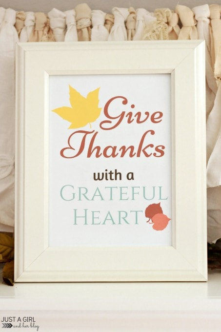 Give Thanks with a Grateful Heart | Just a Girl and Her Blog for The Hankful House
