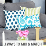 3 Ways to Mix and Match Throw Pillows