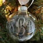 Monogrammed Christmas Ornaments