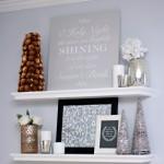 A DIY Sign and Christmas Shelf Decor {Behr Holiday Hues}