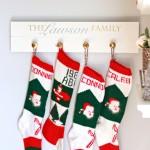 Our DIY Stocking Holder | JustAGirlAndHerBlog.com
