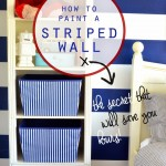 How to Paint a Striped Wall {A house full of sunshine}