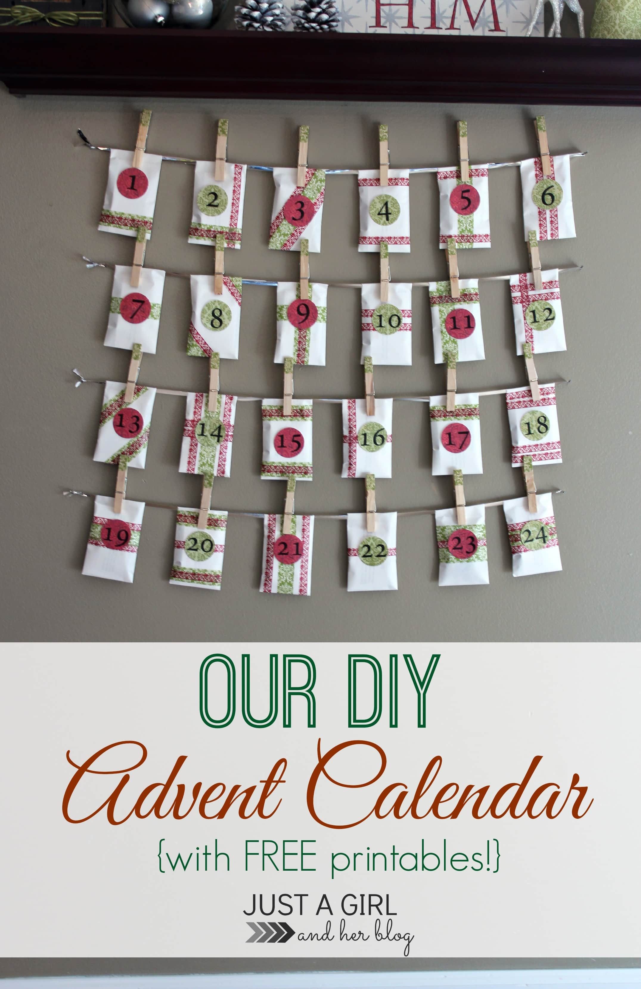 Calendar Advent Diy : How to make an advent calendar just a girl and her