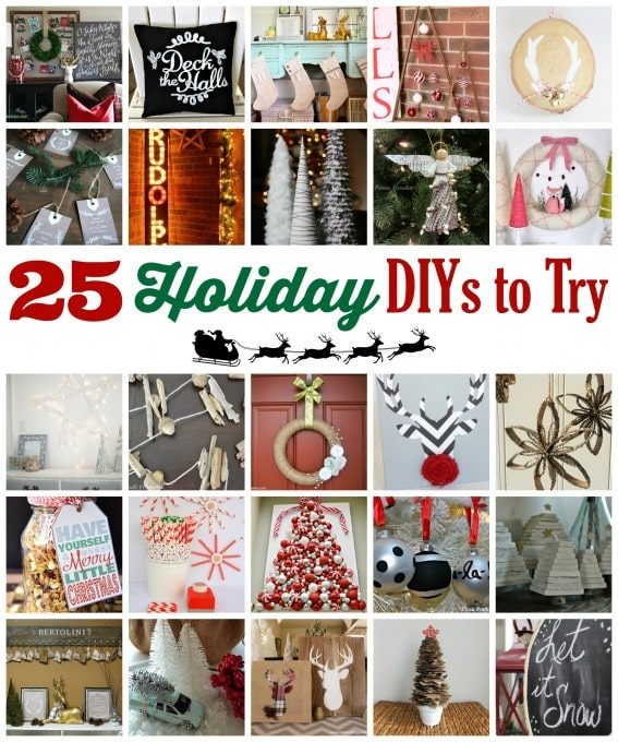 25 Holiday DIYs to Try | JustAGirlAndHerBlog.com