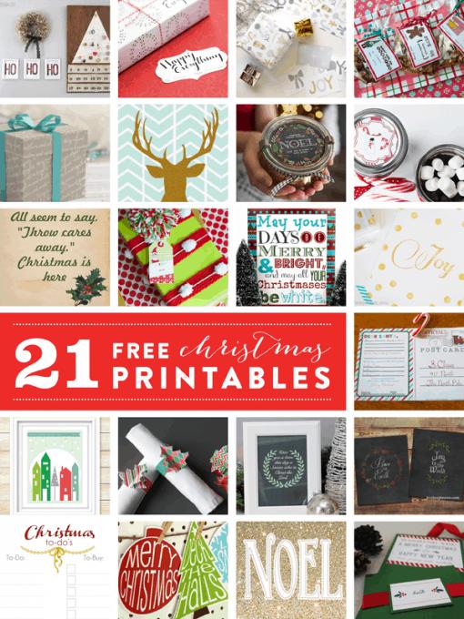 21 FREE Christmas Printables!