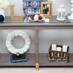 Shabby to Chic Console Table Makeover