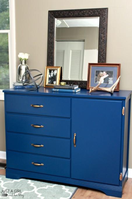 A Masculine Dresser Makeover | JustAGirlAndHerBlog.com